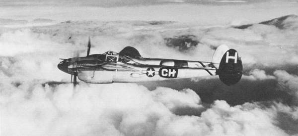 P-38 through the clouds